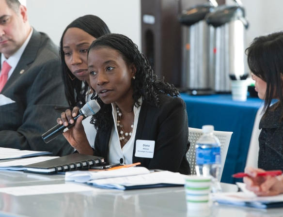 Stoneleigh Foundation Senior Program Officer Diana Millner shares her thoughts on the possible involvement of funders in youth safety initiatives. Photo courtesy of the City of Philadelphia, Kait Privatera